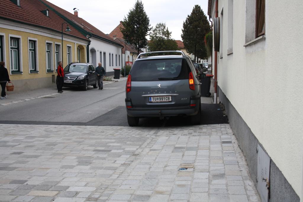 Parken am Gehsteig
